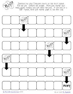 POOF! Free game board from My Little Classity Class. Use for addition OR subtraction.