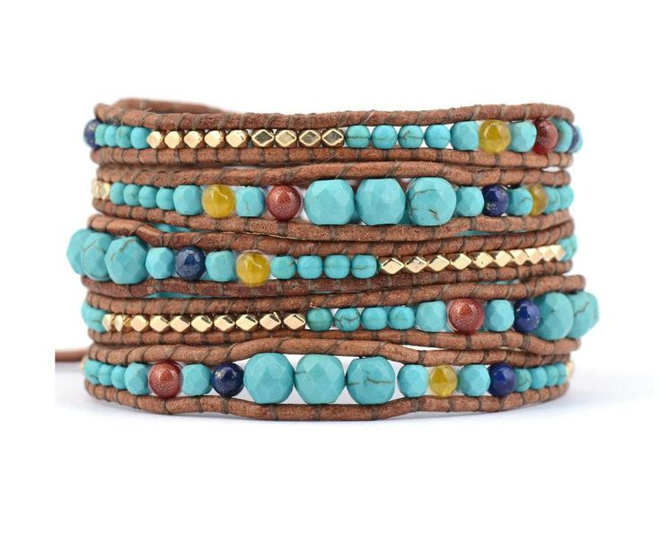 Leather Boho Wrap Bracelet