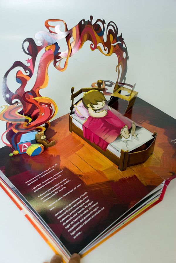 Pop-up Book  The girl and the enchanted bird - Rubem Alves    Very cool graduate student's project.