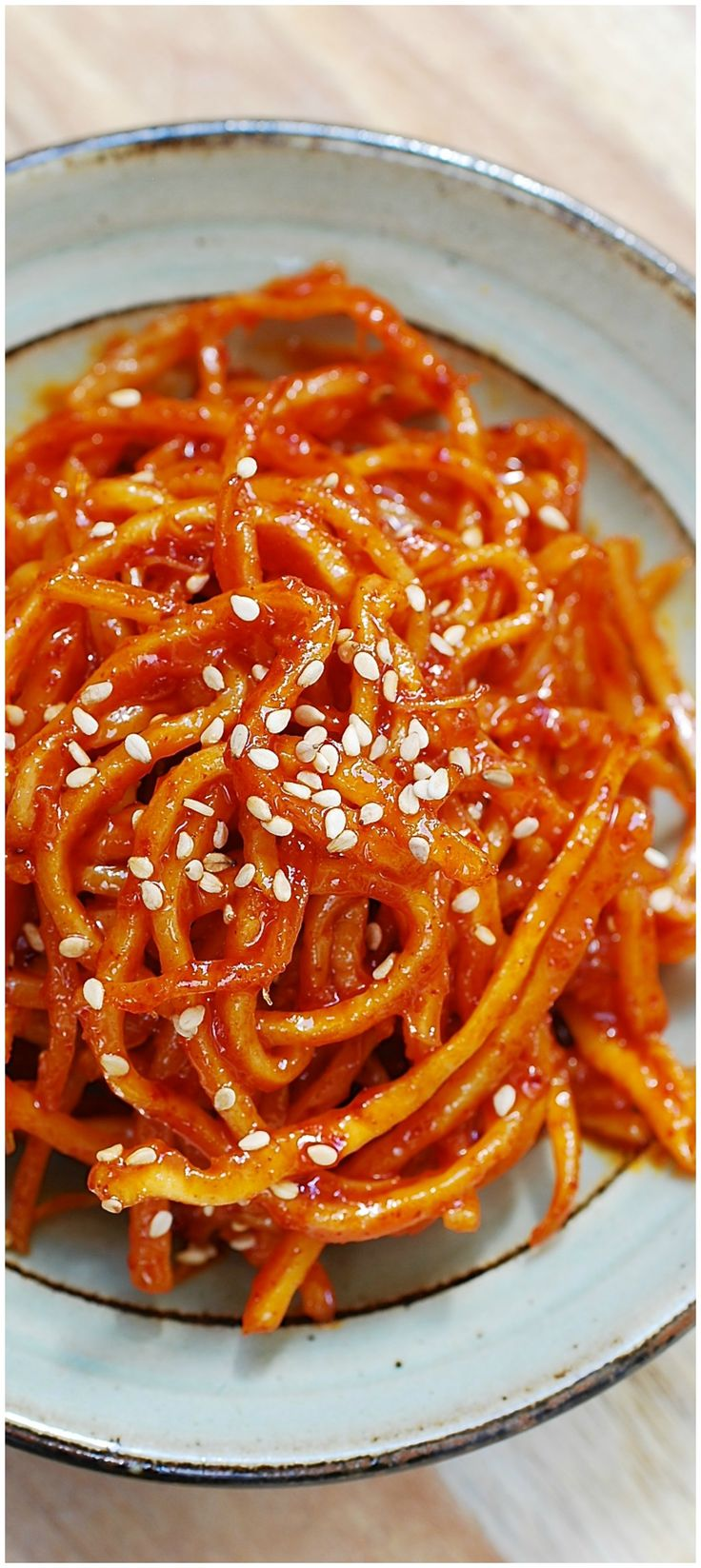 Ojingeochae muchim (Sweet, spicy dried squid strips)!