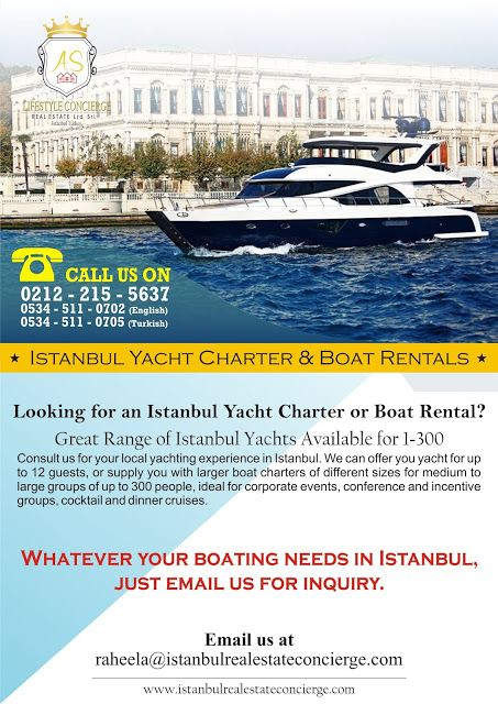 AS Lifestyle Concierge and Real Estate Services Ltd. Sti.: Istanbul Yacht Charter and Boat Rentals