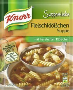 myTime.de Angebote Knorr Suppenliebe Fleischklößchen Suppe: Category: Fertiggerichte > Fix-Produkte > Instant Suppen Item…%#lebensmittel%