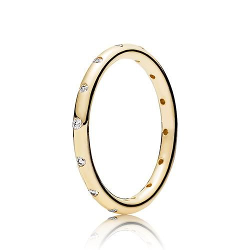 Her Majesty Stackable Ring Clear Cz