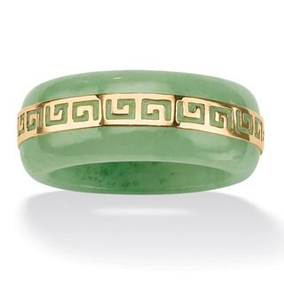 @Overstock - Angelina D'Andrea 14K Gold Jade Greek Key Ring - Greek jade key ring,14-karat gold jewelryClick here for ring sizing guide    http://www.overstock.com/Jewelry-Watches/Angelina-DAndrea-14K-Gold-Jade-Greek-Key-Ring/5296840/product.html?CID=214117  $74.79