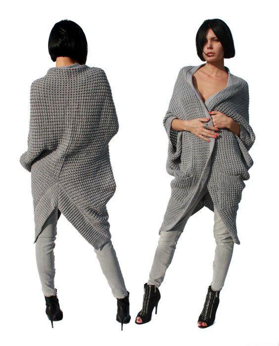 Женское вязаное пальто (129 фото) 2017: с капюшоном, для ...