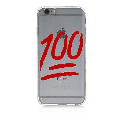 Clear Protective TPU Phone Case 100 Emoji High Quality UV Print iPhone 6 rubber