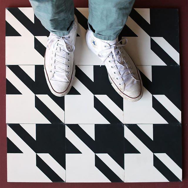 a happy friday surprise!! in celebration of the long weekend ahead we've further discounted our moving sale items! they are now 40% off. get them now as our sale ends on september 6th! tile shown is houndstooth. #cletile