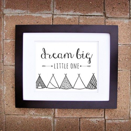Dream Big, Little One. Instantly download our printable nursery art from Plum