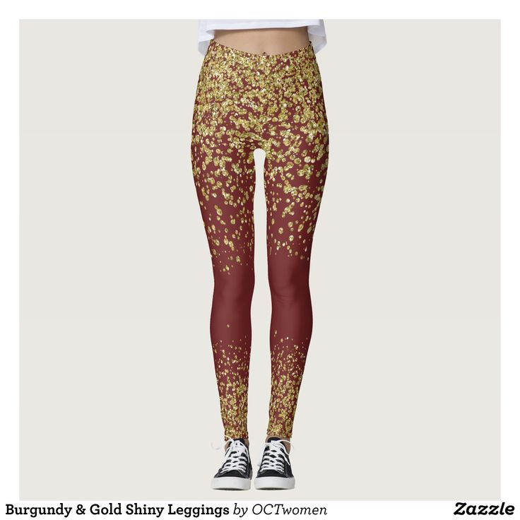 Burgundy & Gold Shiny Leggings : Beautiful #Yoga Pants - #Exercise Leggings and #Running Tights - Health and Training Inspiration - Clothing for #Fitspiration and #Fitspo - #Fitness and #Gym #Inspo - #Motivational #Workout Clothes - Style AND #comfort can both be possible in one perfect pair of custom #leggings. #Burgundy & Gold Shiny Leggings was crafted made with care each pair of leggings is printed before being sewn allowing for #fun and #creative designs on every square inch - Medium…