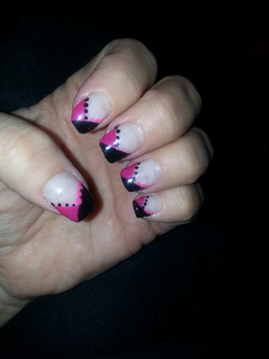 Pink and black gel attack