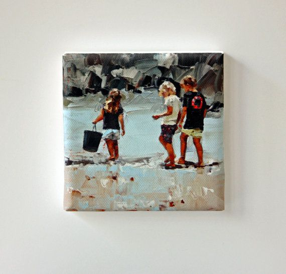 Gifts Under 30 USD  Tiny Canvas  Collecting by ClaireMcCallArt