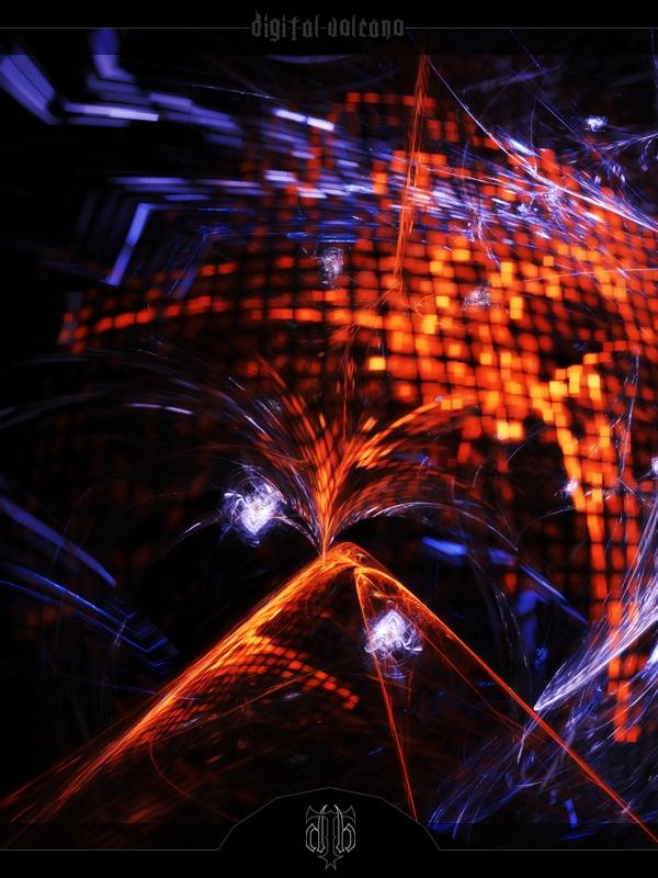 Digital Volcano    //Apophysis w/ post work in Photoshop
