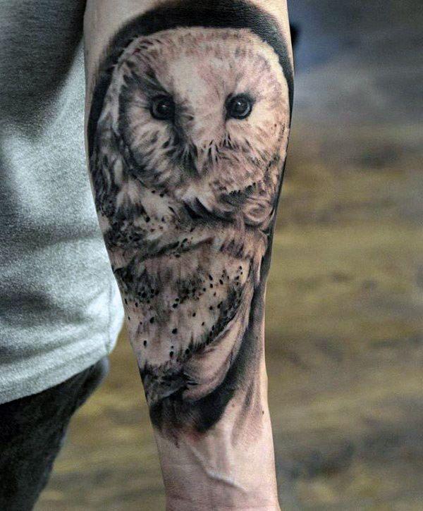 60 Barn Owl Tattoo Designs For Men Lunar Creature Ink Ideas Tatuaje De Lechuza Lechuzas Tatuajes