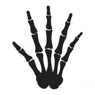 Skeleton Hand Shaped Cello Treat Bags, Pkt12, $11.95, 20083511