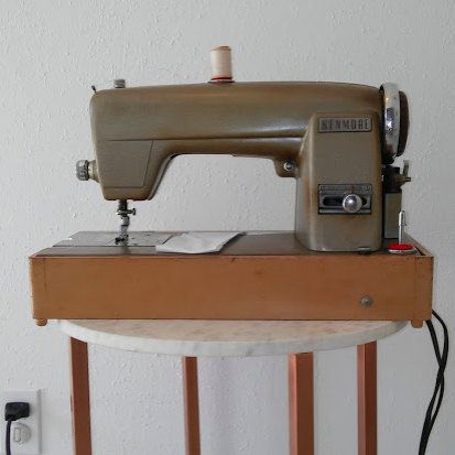 Vintage Kenmore Sewing Machine / Domestic by RosePettijohn on Etsy