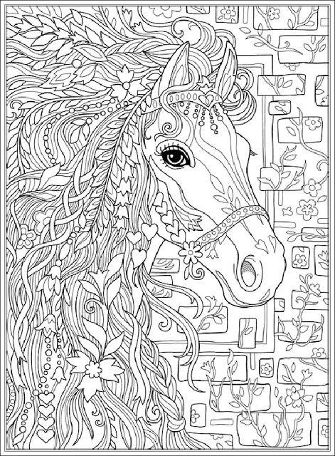 ausmalbilder pferdekopf ausdrucken kostenlos