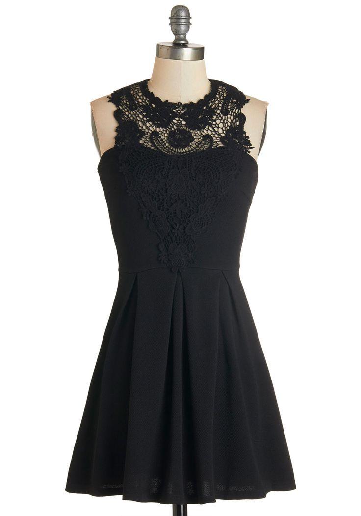 Noir and Away Dress, #ModCloth