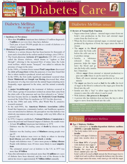 This 6-page Diabetes guide includes detailed information on: diabetes mellitus, 2 types of diabetes mellitus, diabetes test, at-risk weight chart, diagnostic testing, blood sugar testing, goals of therapy, tools needed, choosing meal plans, exercise & diabetes, diabetes medications, complications of diabetes, safety in diabetes, when sickness strikes, and diabetes research.  #testprep #downloads #ebooks #free #education #physiology #anatomy #teachingl #examville  #USMLE #Biology #diabetes