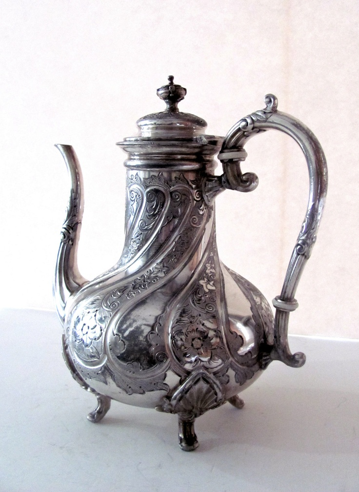 Vintage Silver Teapot. $75.00, via Etsy.