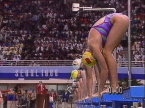 Unorthodox Freestyle Swimming Icon Janet Evans - Seoul 1988 Olympics