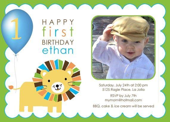 27 best Leos first birthday images – Lion Birthday Invitations