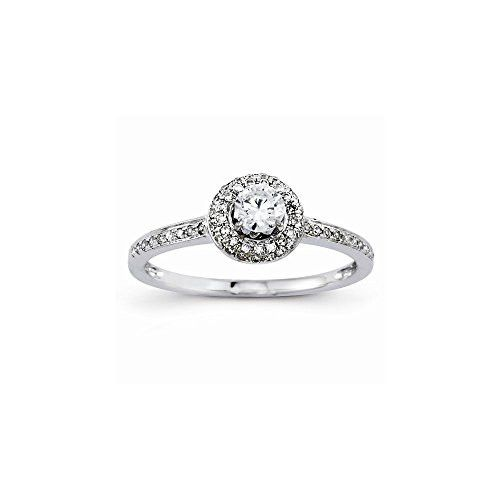 14k Semi-Mounting Wg Engagement Ring, No Center Stone Included
