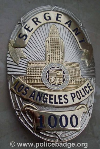 Badge LAPD Sergeant by dynamicentry122, via Flickr