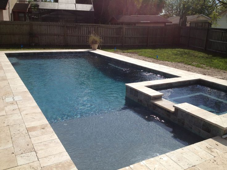 25 best ideas about rectangle pool on pinterest beautiful pools backyard pool landscaping - Rectangle pool designs ...