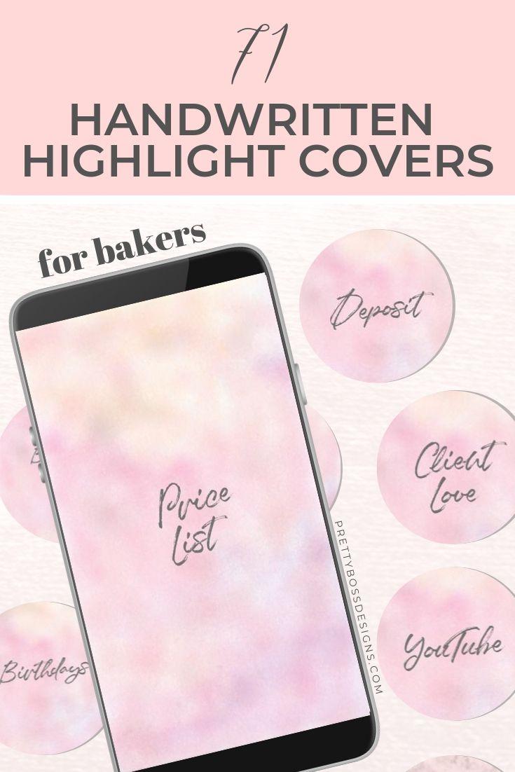 Handwritten highlight covers bakery 71 instagram story