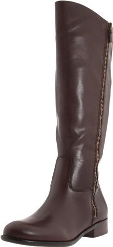 These boots are soft with a rich smooth leather. The dark brown is the perfect shade and not too dark. I did find my size 10's to be fraction smaller but thats fine, with a thinner sock. The only downfall is the smooth sole, these boots will be slippery in the wet. The boots actually look better than the photos. Love them.