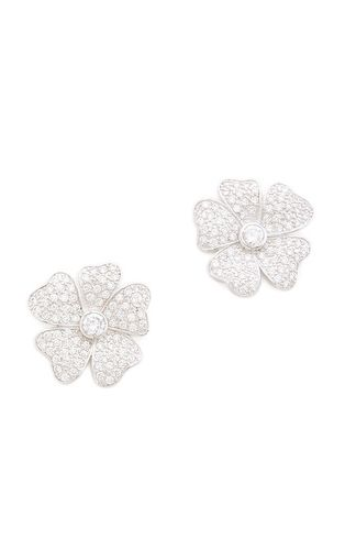 Pansy Pave Earrings.  Would go with the flower ring I pinned!