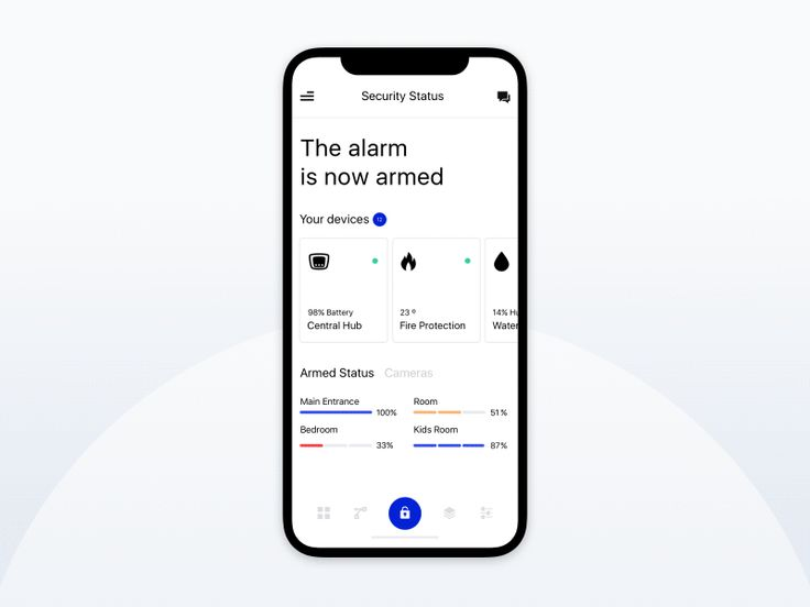 Mobile App Design Animation for Security Alarm Sys