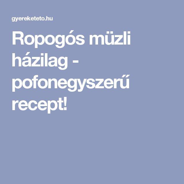 Ropogós müzli házilag - pofonegyszerű recept!