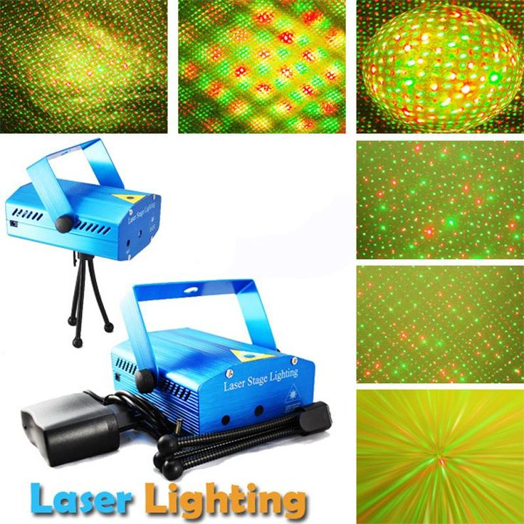 [Visit to Buy] DMX Stage Laser Stage Lighting Effect,Projector Strobe Lighting soundlights Mini DJ Disco Party Light R&B Laser Stage Lights #Advertisement