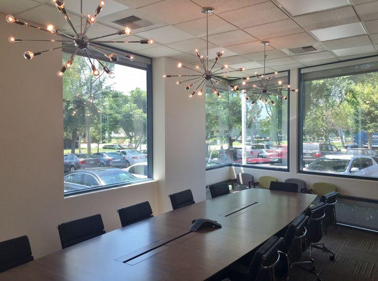 Superb Mid Century Modern Sputnik Chandelier In Polished Chrome For A Conference  Room In Irvine, CA