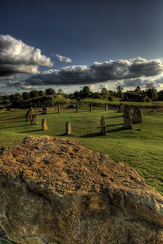 Stone circle, Ham Hill, Somerset. Do you long to escape to the peace and tranquility of the West Country and leave behind all the arguments, traffic, shouting, and TV? We can help you find your dream home in Cornwall, Somerset or Devon - minervacompany.uk/