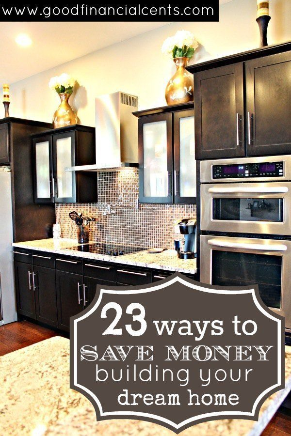 Saving money when you build your dream home. #frugal #money