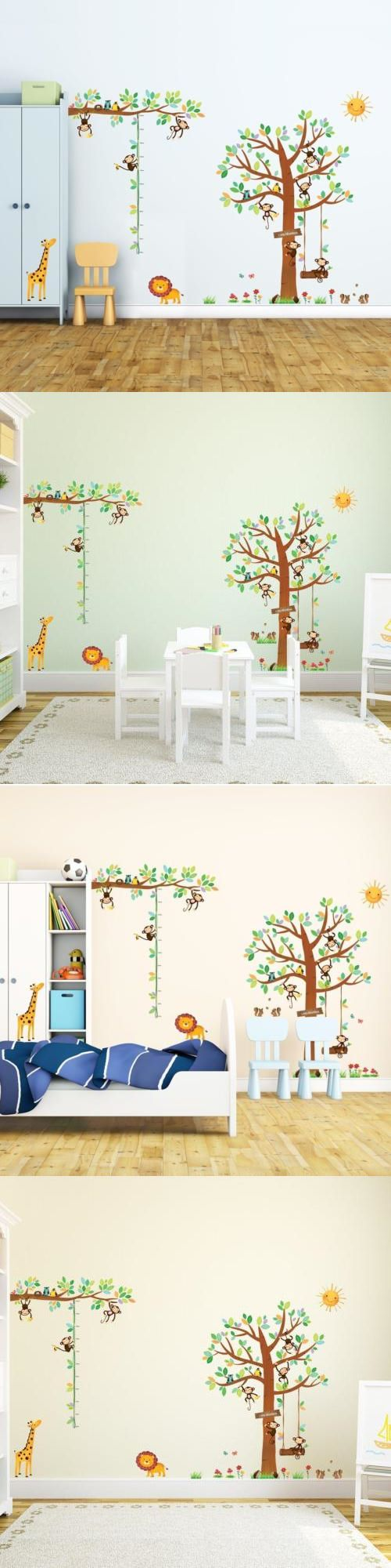 2439 best festival wall stickers images on pinterest wall decals stickers and vinyl art 159889 little monkeys tree height chart nursery kids wall decals