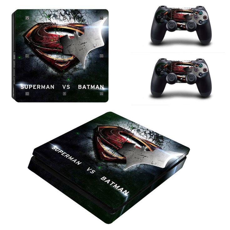 Superman VS Batman Ps4 slim edition skin decal for console and 2 controllers