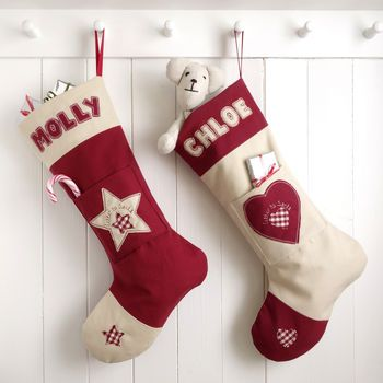 Personalised letter to santa christmas stocking by milly and pip, from £37. Copyright © milly and pip