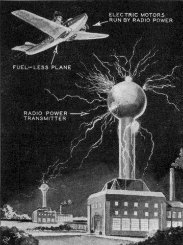 Tesla wireless power future 1934