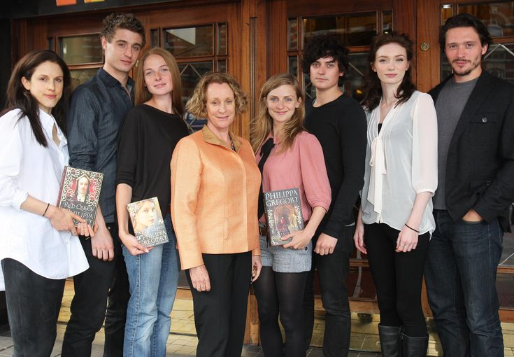 The-White-Queen-Cast with the author Philippa Gregory