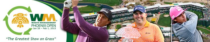 The Waste Management Phoenix Open is a pro golf tournament on the PGA Tour held in late January through early February at TPC Scottsdale. TPC stands for Tournament Players Club.