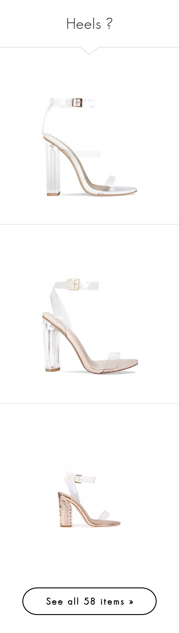 """Heels 👠"" by champagnayegang ❤ liked on Polyvore featuring shoes, pumps, white court shoes, white pumps, white shoes, heels, sandals, strap pumps, strappy shoes and nude strappy shoes"