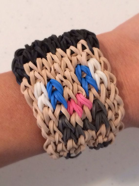 Rainbow Loom Minecraft CREEPER Bracelet by KnittyGrittyMarket