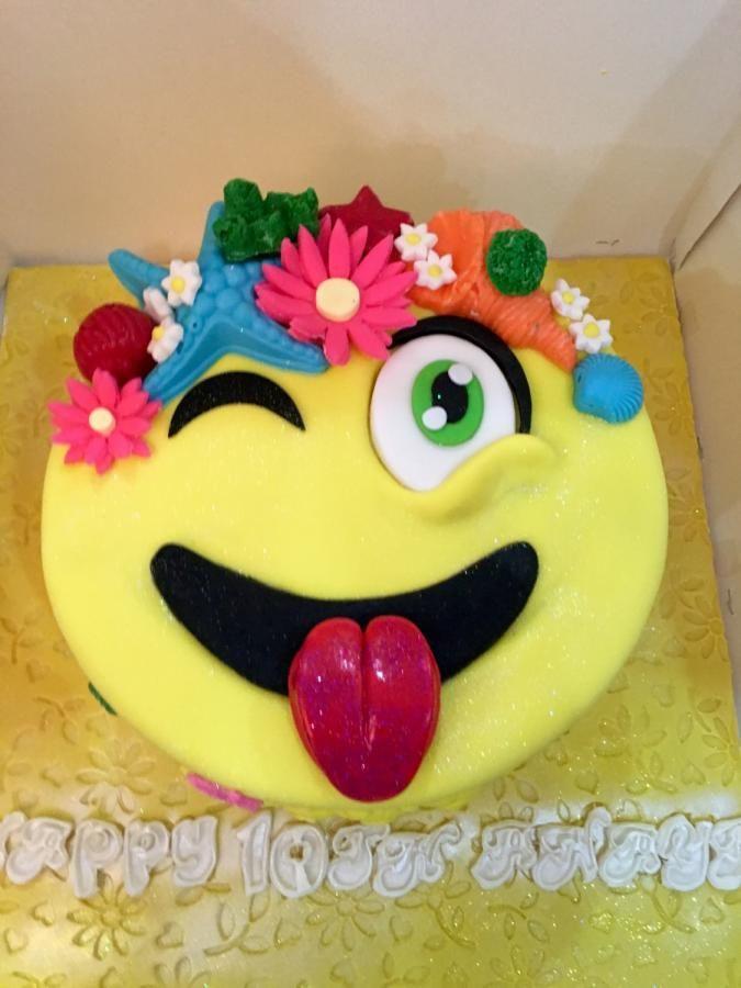 Emoji Sunglasses Cake Topper