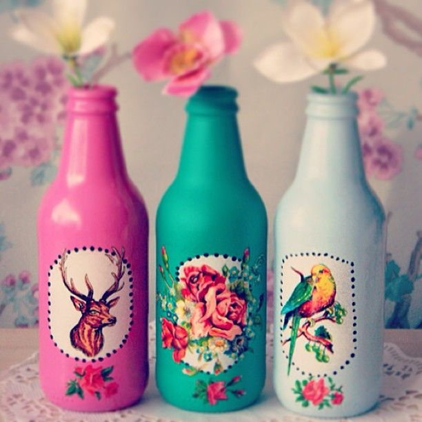 diy inspiration! I just painted my bottles the other day too!!!
