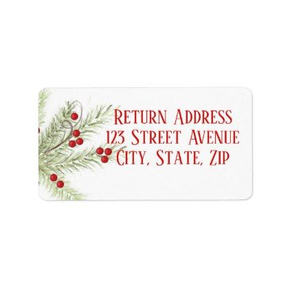 Christmas Branch Holiday Mailing Label - Xmascards ChristmasEve Christmas Eve Christmas merry xmas family holy kids gifts holidays Santa cards