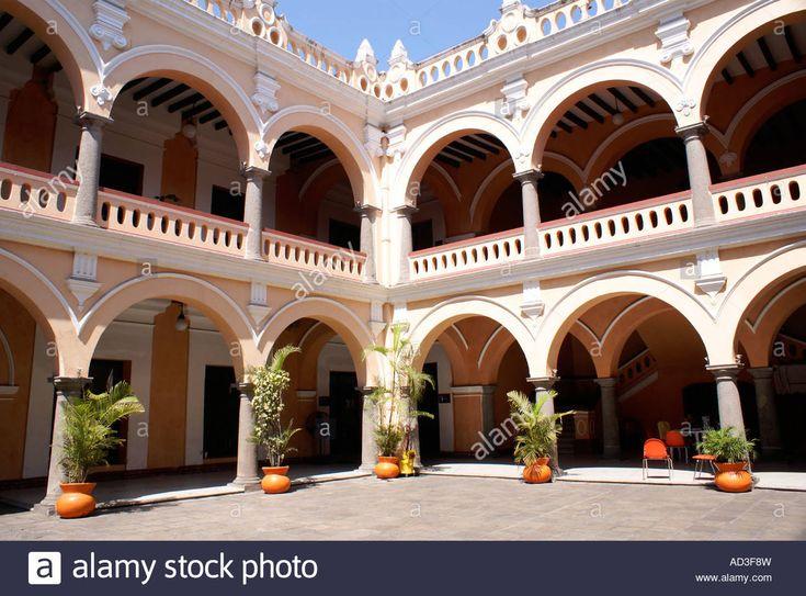 Arcades in the courtyard of Museo de la Ciudad de Veracruz or Veracruz City Museum,