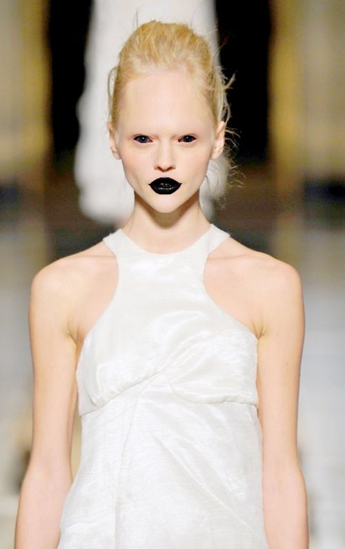 On the runway. Spooky or just plain ugly...you be the judge